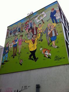 De Kampioenen fresque BD - stripmuur