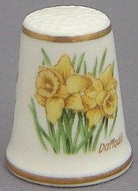 Royal Grafton Thimble - Flowers of the Poets Collection - Daffodil