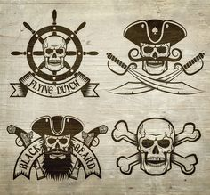 Pirate emblem bundle on Behance