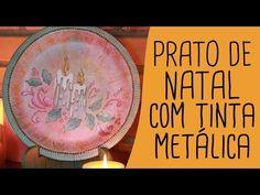 ▶ Prato de Natal com tinta metálica - YouTube