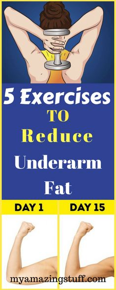 Remedies To Lose Weight 5 Exercises to Reduce Underarm Fat - Since the beach season is just around the corner, many women want to look perfect in their bikinis. But there's a catch – the bra [. Fitness Workouts, Fitness Motivation, Easy Workouts, Fitness Diet, At Home Workouts, Health Fitness, Workout Diet, Motivation Sportive, Armpit Fat