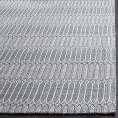 Safavieh Marbella Contemporary Handmade Silver Wool Rug (4' x 6')