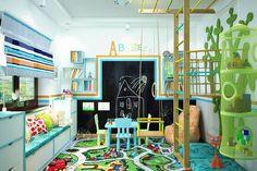 Chambre d'enfant de style de style Moderne par Студия дизайна Interior Design IDEAS Ikea Kids Playroom, Kids Playroom Furniture, Modern Playroom, Toddler Playroom, Playroom Storage, Playroom Design, Playroom Decor, Kids Room Design, Playroom Ideas
