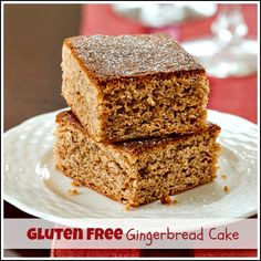 Gluten Free Gingerbread Cake.Learn how to make these spiced individual gingerbread cakes that everyone will love, regardless of dietary needs. http://www.ifood.tv/recipe/gluten-free-gingerbread-cake
