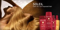 "#Summer #hair ""survival"" kit by hair salon in Weston http://hairventure.com - #Kerastase soleil"