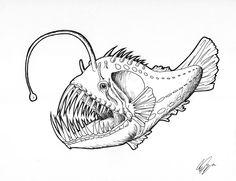 Mostri Marini Da Colorare.78 Fantastiche Immagini Su Angler Fish Tatoo Pesce