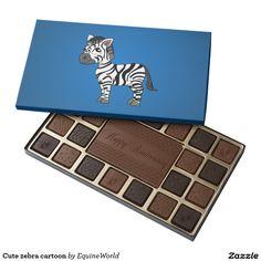 Cute zebra cartoon 45 piece box of chocolates