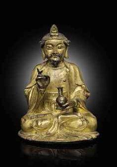 明十七世紀  鎏金銅觀音菩薩坐像