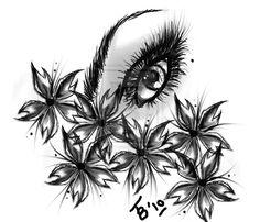 Eye Tattoo Designs With Flowers   Tattoo design: Sakura-Eye by *muffinsaremygoddess on deviantART