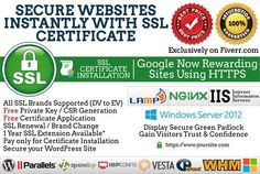 install SSL https in your Webserver