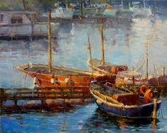 Amalfi Boats by Dee Beard Dean Oil ~ 16 x 20
