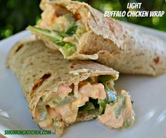 Light Buffalo Chicken Wraps!