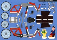 All sizes   Make City, Amsterdam, Cargo Bike - Cut Out Postcard   Flickr - Photo Sharing!