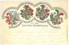 Kartellfest in Jena Jena, Vintage World Maps, Heidelberg, Cards