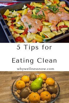 Eating clean means making sure you choose the healthiest option in each food group at every meal. Here are five great tips for eating clean.