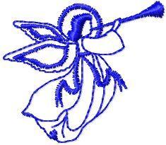 angel free machine embroidery design. Machine embroidery design. www.embroideres.com