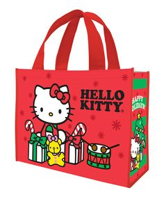 Look at this Red Hello Kitty Holiday Shopping Tote - Set of Two on #zulily today!