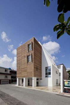 루버하우스 : 모던스타일 주택 by 스마트건축사사무소