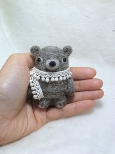 Bear brooch by CatsX on Etsy, $15.00