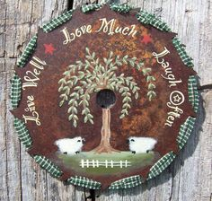 Original hand painted primitive saw blades. on Etsy, $19.95