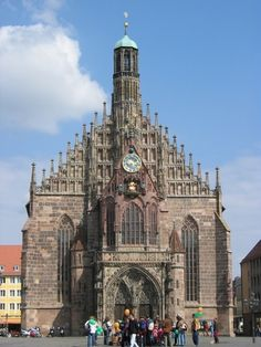 Frauenkirche in Nuremberg. The  Christkindlemarkt is in front of it every year.
