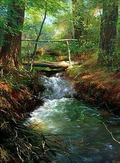 Fantasy Landscape, Landscape Art, Landscape Paintings, Landscape Photography, Nature Photography, Nature Paintings, Beautiful Paintings, Beautiful Landscapes, Digital Paintings