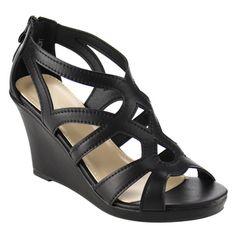 8dfaf5ca015c5 Beston Cut Out Wedge Sandals Shoe Deals