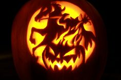 """If Dane ever gets a Halloween fight night opportunity I am definitely going to make a headless """"Red Horse"""" man pumpkin! Awesome Pumpkin Carvings, Pumpkin Carving Tips, Pumpkin Carving Templates, Carving Pumpkins, Food Carving, Halloween Outfits, Scary Halloween, Halloween Pumpkins, Halloween Treats"""