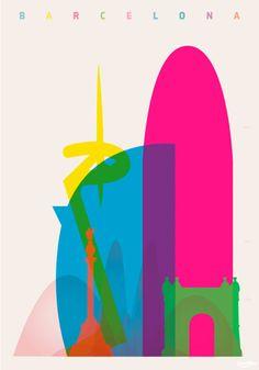 El artista Yoni Alter ha creado una serie de pósters con las siluetas de los edificios emblemáticos y monumentos de diferentes ciudades ordenados según su altura.