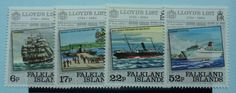 Falkland Islands Stamps 1984 250th Anniversary of Lloyds List SG484-487 Mint never hinged
