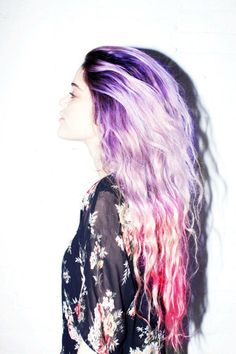 Want to preserve the life of your pastel hair color? These top hair colorists reveal the secrets to keeping your pastel hair color fresh. Purple Hair, Ombre Hair, Pink Purple, Pink Sky, Green Hair, Dusty Pink, Twisted Hair, Coloured Hair, Dye My Hair