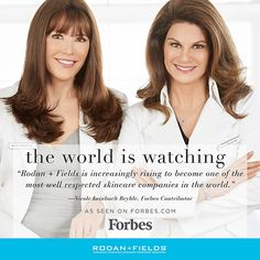 The world is watching Rodan + Fields.  So much to come in the future for this skincare company.  Message me on pinterest @ R+Fskincare101 for more info.