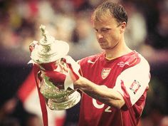 Bergkamp with the FA Cup.