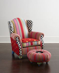 Wing Chair & Tuffet