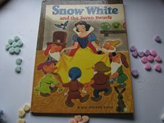 A 1967 Vintage Children's Classic- A Big Golden Book- Walt Disney- Snow White and the Seven Dwarfs  by ScrapPantry, $11.00 USD