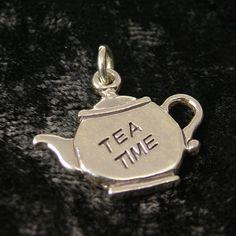 Silver Teapot Tea Time Tea Charm