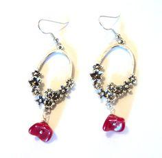 On Sale Red Rizo Czech Glass Chandelier Earrings Czech Glass   For ...