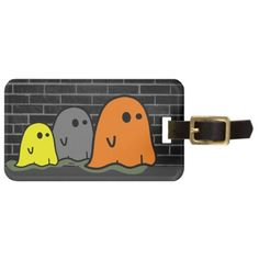 Halloween Ghosts Cute Luggage Tag