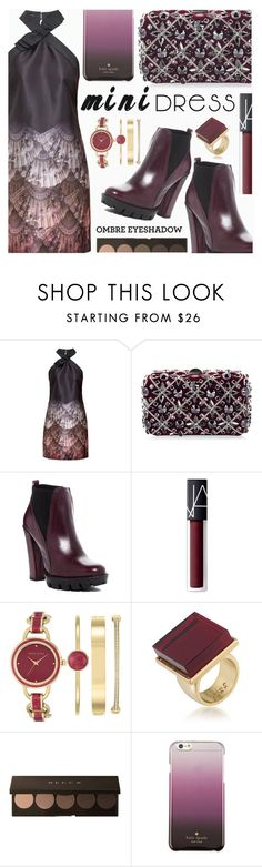 """PARTY STYLE"" by shoaleh-nia ❤ liked on Polyvore featuring Ted Baker, Rodo, Charles David, NARS Cosmetics, Anne Klein, Trina Turk and Kate Spade"