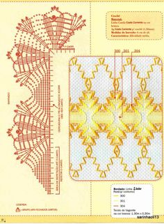 Gallery.ru / Фото #22 - V 3 - giasemi Crochet Borders, Crochet Chart, Crochet Patterns, Crochet Lace, Needlepoint Stitches, Needlework, Swedish Embroidery, Monks Cloth, Weaving Designs