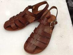CACUS : All Leather Gladiator Flat Sandal Handmade leather sandal custom size available by BODRUMSANDALS on Etsy