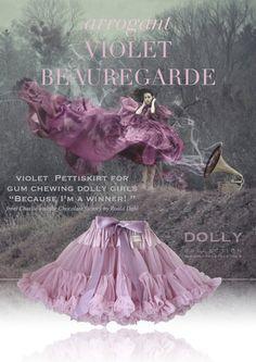 DOLLY by Le Petit Tom ® VIOLET BEAUREGARDE pettiskirt violet