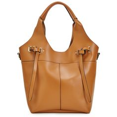 ShoeDazzle Bags Jasun Womens Brown ❤ liked on Polyvore featuring bags, handbags, brown, wallets & cases, brown bag, purse pouch, brown handbags, hand bags and beige bag