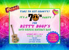 70's Hippie Party Custom Designed by BrooklynDesignStudio on Etsy, $15.00