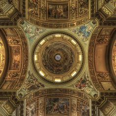 Sant'Andrea Della Valle basilica church, ceiling paintings by two Carracci pupils, Giovanni Lanfranco and Domenichino - Rome, Italy