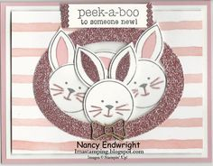 Peek a Boo Bunny by Imastamping - Cards and Paper Crafts at Splitcoaststampers