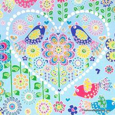 Fanciful Flight Main in Sky Pearl by Hoffman Fabrics