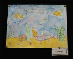 3rd grade students at Meeting Street Academy in Charleston, SC created Roll-A-Sea Monsters.  They rolled a die and drew a sea monster based on the number on the die.  The composition included the monster's environment and was painted using #watercolor.  MSA founder Ben Navarro champions educational opportunities for under-resourced families. Elementary art education is a key component of his vision. #MeetingStreetAcademy #Art #Education #SCSchools #BenNavarro #ShermanFinancialGroup
