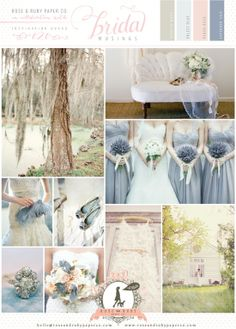 perfect colors... pastel blues, pinks, and neutrals.. I would add grey :)
