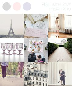 With love from Paris ~ romance and love letters inspiration in soft, pastel colours
